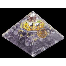 ORGON MINERAL PIRAMIDE FENG SHUI AMATISTA 7X7X6CM