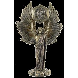 ANGEL METATRON CON CUBO GEOMETRICO 34X22X9CM REF 18120