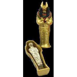 EGIPCIO SARCOFAGO ANUBIS CON MOMIA 12CM REF ES46
