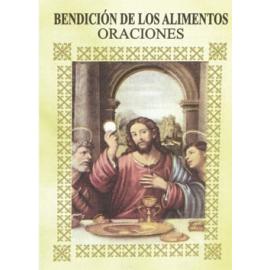 LIBRITO ORACIONES BENDICION DE LOS ALIMENTOS 7X5 M