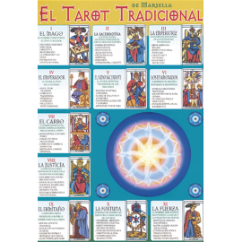 FICHA EL TAROT TRADICIONAL DE MARSELLA (29,5 x 21 cm) REF 2692