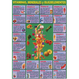 FICHA DE VITAMINAS MINERALES Y OLIGOELEMENTOS (29,5 x 21 cm) REF 2681
