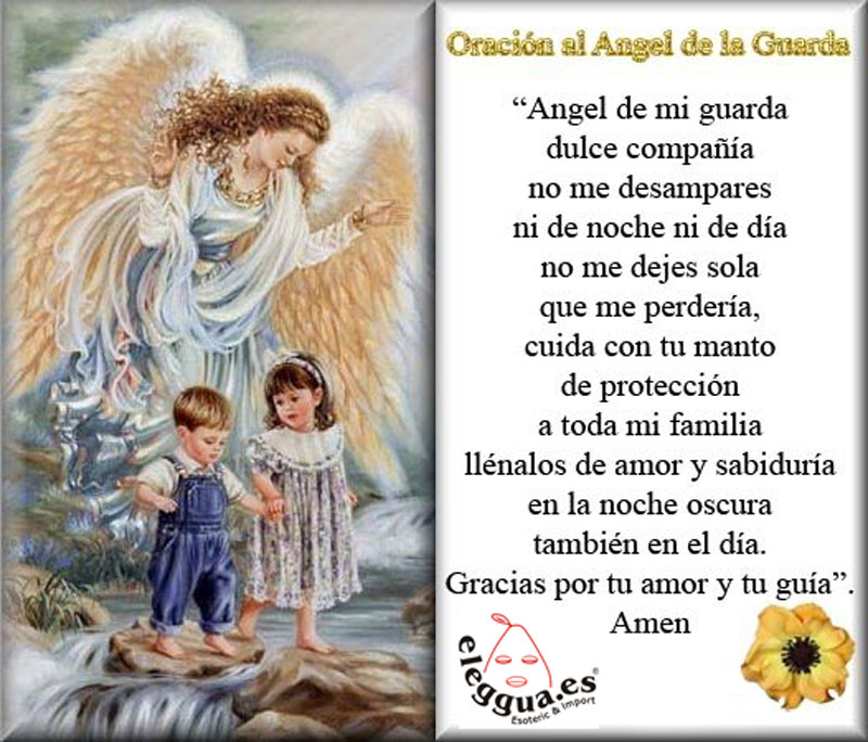 Oraciones Ángel de la Guarda